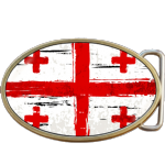 Georgian Grunge Georgia Flag Belt Buckle. Code A0038